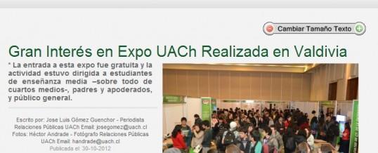 Expo UACh Realizada en Valdivia