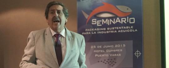 "Dr Ing. Ernesto Zumelzu D. dicta Conferencia Magistral sobre ""Envases Sustentables para la Acuicultura"""